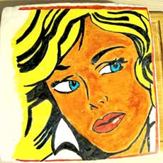 Pop Art Cake - Malen auf Fondant