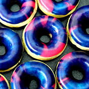 Vegane Galaxy Donuts