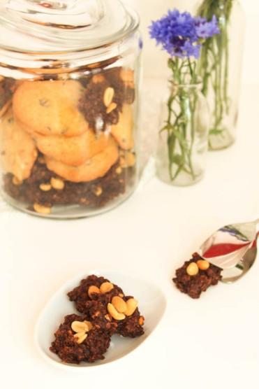 No Bake Schoko Erdnuss Kekse