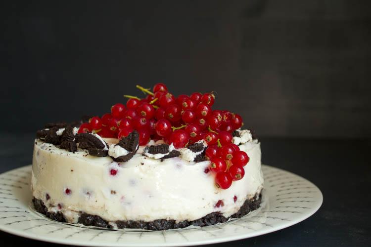 No Bake Cake Oreo Johannisbeeren
