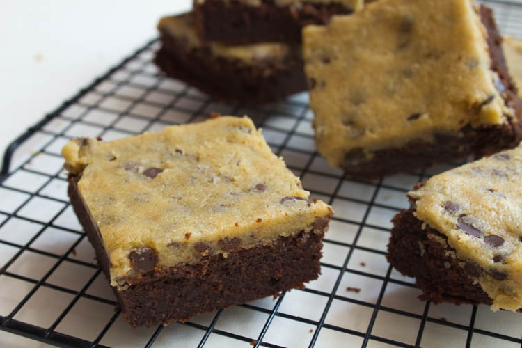 Brownies mit Cookie Dough