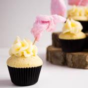 Rezept Pfirsich Cupcakes Zuckerwatte